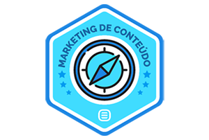Badge - Certificado em Marketing de Conteúdo Rock Content